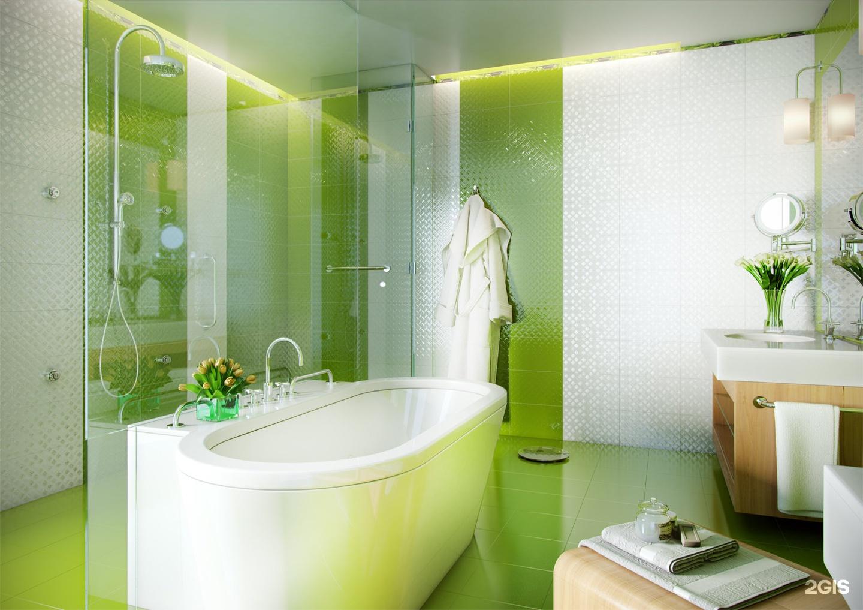 Зеленая ванная комната  № 2278646  скачать