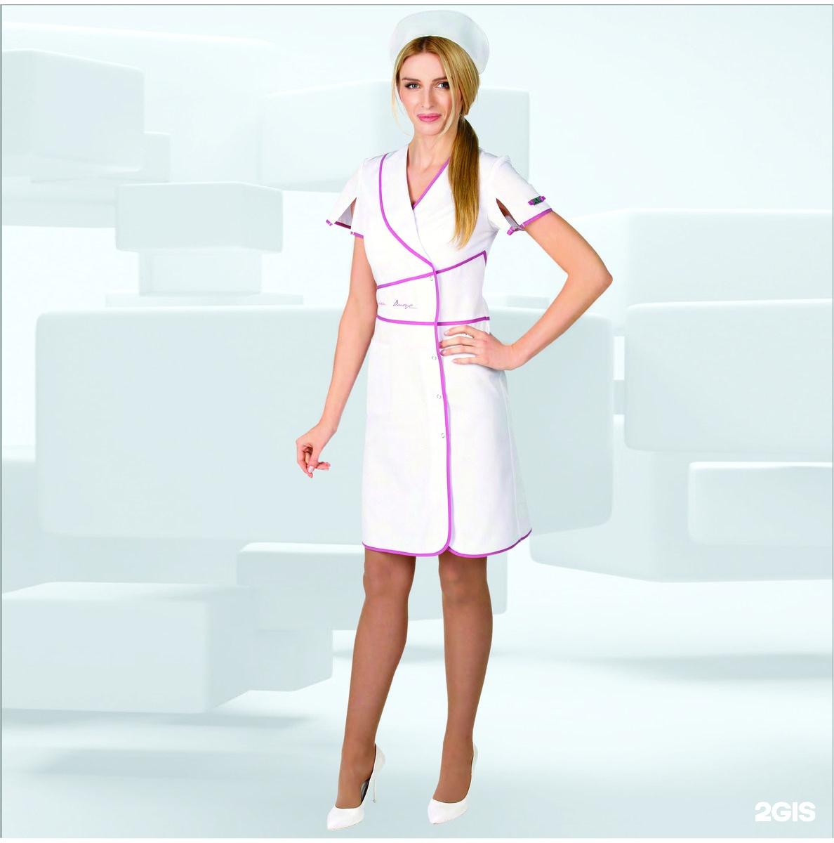 Купить женский медицинский халат магазин фото Модный Доктор