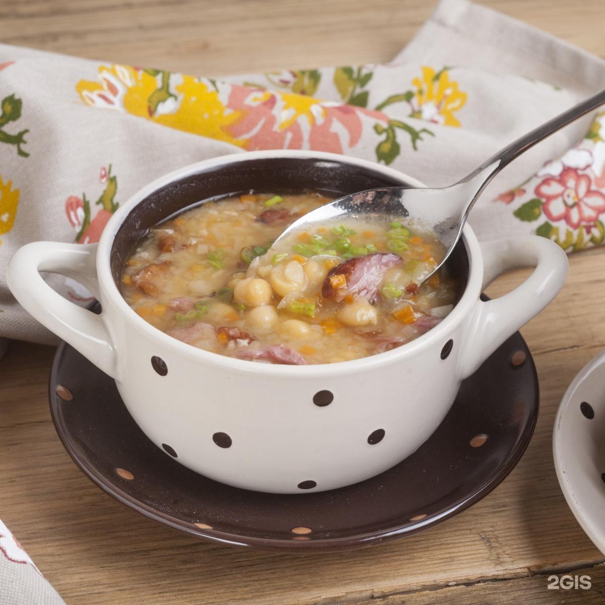 Рецепт горохового супа с ребрышками копчеными ребрышками