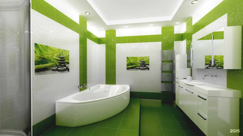 Зеленая ванная комната  № 2278636 загрузить