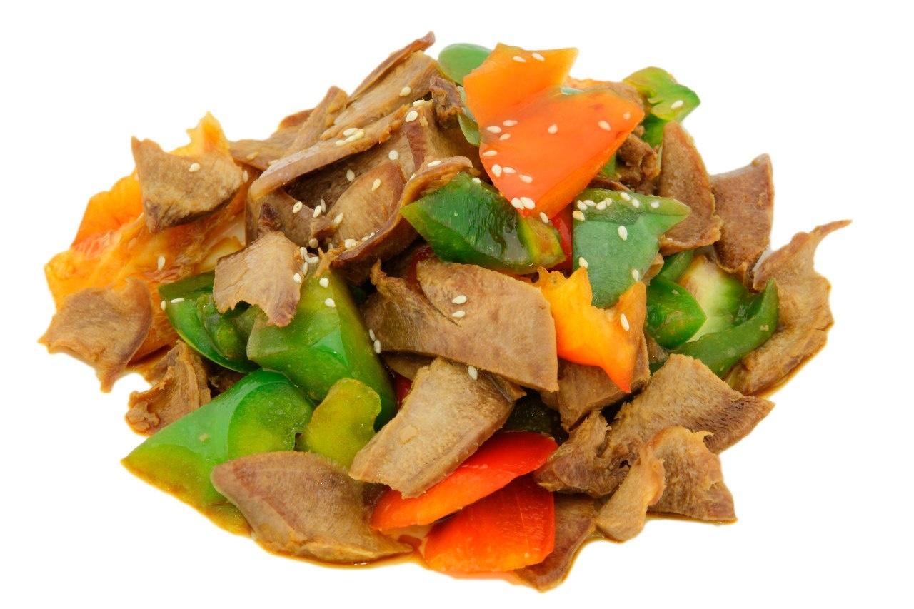 Язык с овощами рецепт