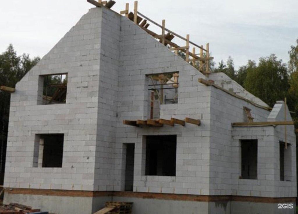 Одноэтажное строительство домов из газобетона