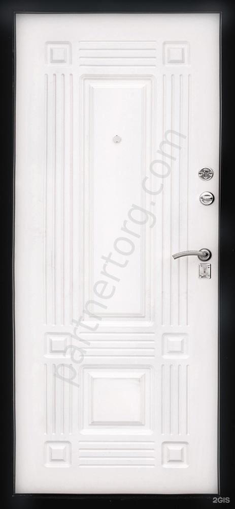 мдф на металлическую дверь белый шелк