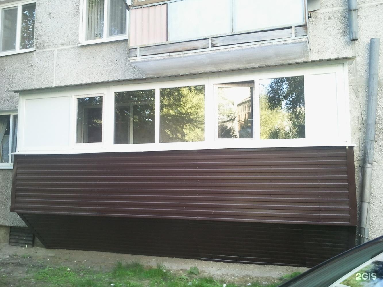 Остекление балкона 6м п-образн 2ст 3раб.створки 121-3т 7тс о.