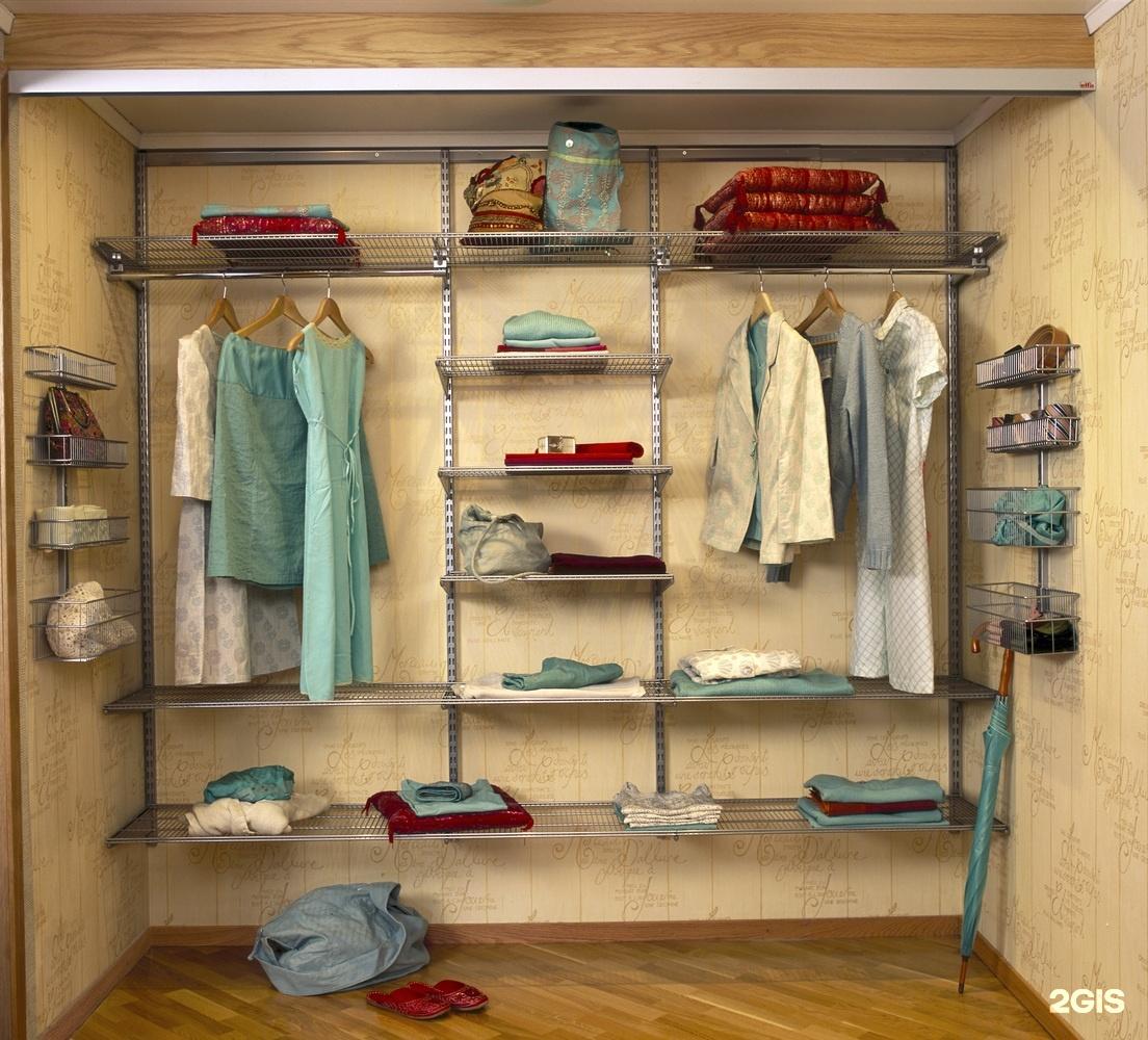 Системы хранения вещей для гардеробной: фото в интерьере.