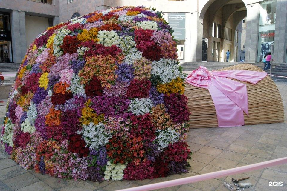 Огромный большой букет цветов в мире, башмачок