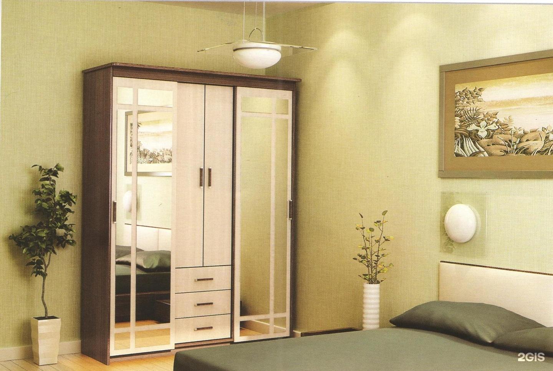 Мебель - шкаф-купе уют-3 -венге-дуб2.