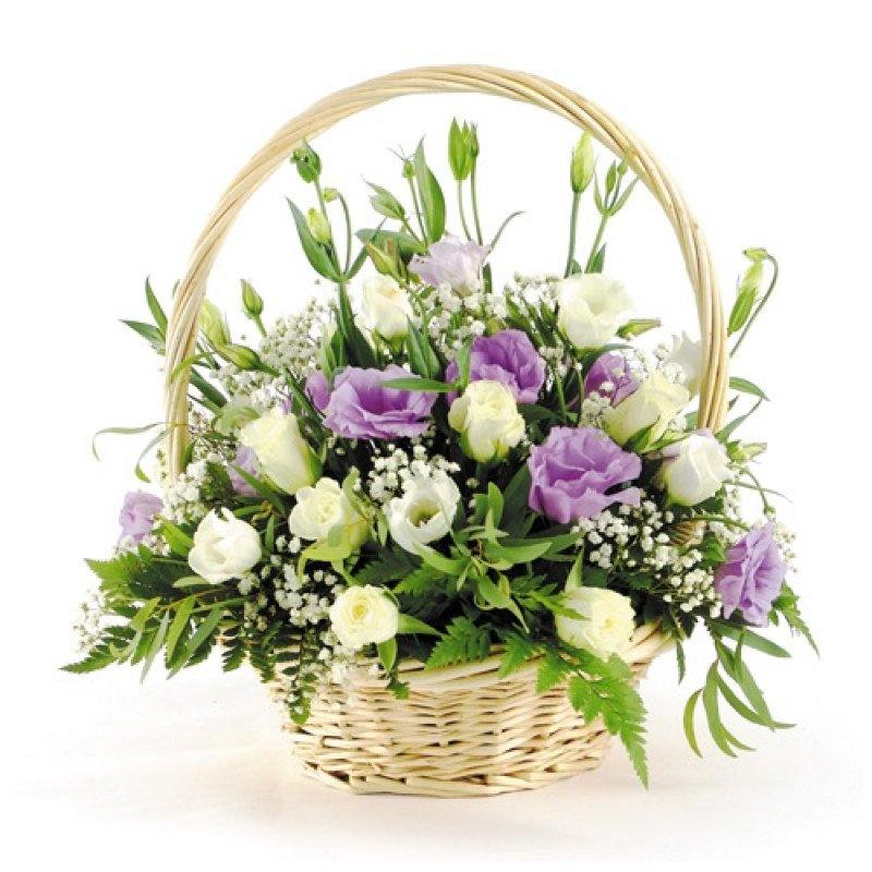 Цветы в корзинах купить в спб, тюмень недорого